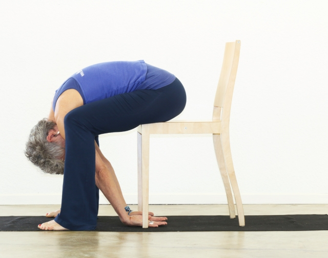 Forward Bend/Uttanasana - modified with chair