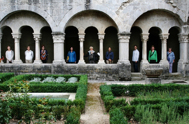 RoxAnn and Retreat Company visiting the Abbey of Senanque in Provence.
