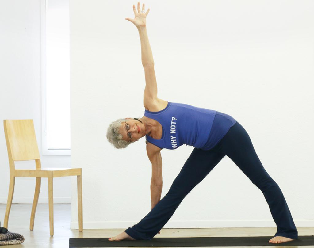 Triangle Trikonasana Yogatherapyalacarte