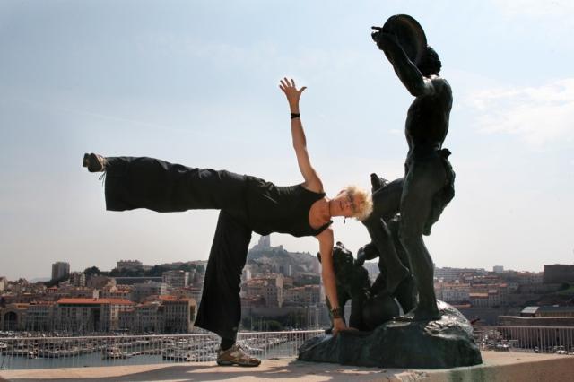 RoxAnn striking a pose in Marseille, France.