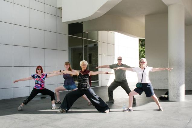 ©RGoellnitz 2012 - The Art of Yoga in front ofthe MOCA in Barcelona