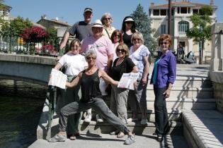 ©RGoellnitz - RoxAnn and Retreat Group in L'isle sur la Sorgue, Provence.