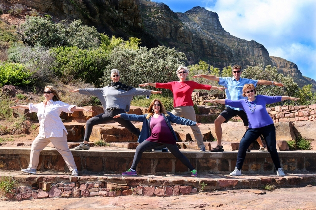 Yoga Warriors on their way to Cape of Good Hope (South Africa)