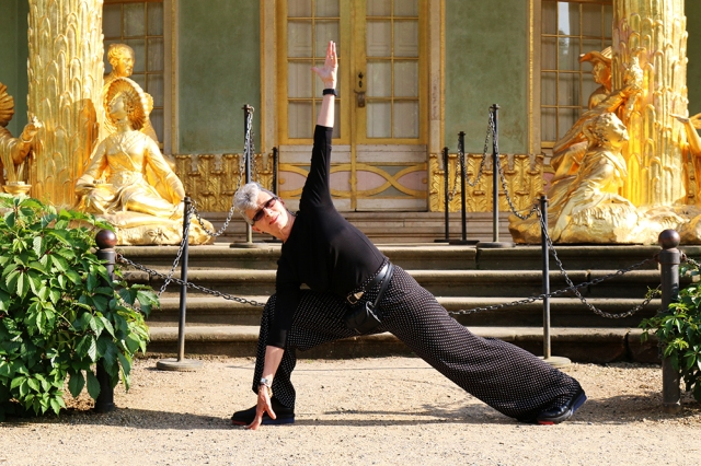 ©Rolf Goellnitz - RoxAnn Madera in front of Chinese Pavilion at Palace 'Sans Souci' in Potsdam, Germany